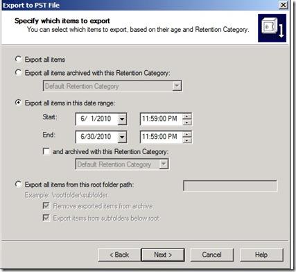 date-range-export